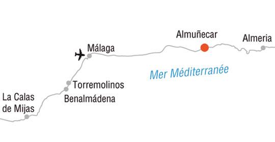 Carte Espagne Andalousie Almunecar.Top Of Travel
